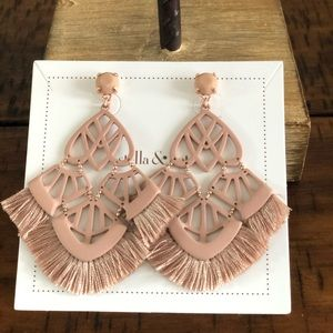 Chandelier Statement Earrings Blush Stella and Dot